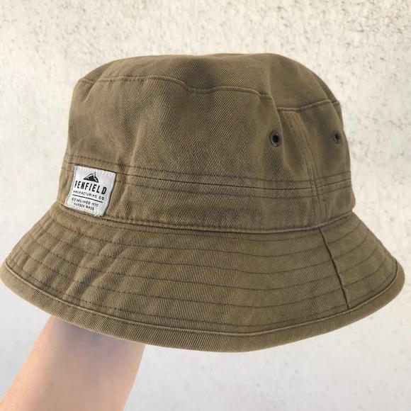 8b2c6f6c195d45 Khaki green Penfield canvas bucket hat. M_5c2672cfd6dc5290f6196da6